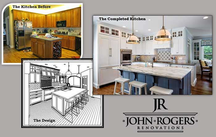 Design Build Remodeling Example of John Rogers Renovations