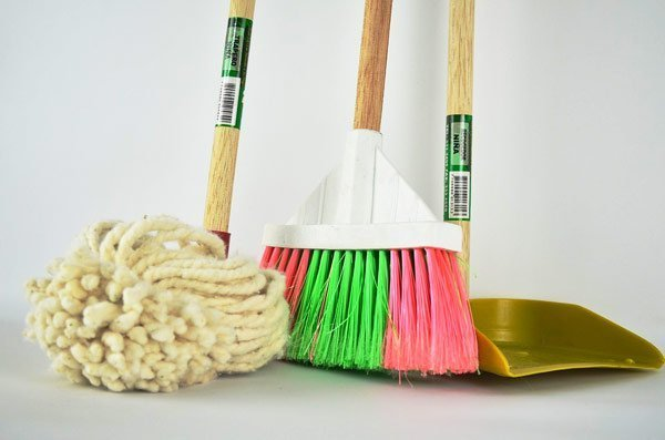 cleaning supplies - broom & mop